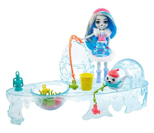 Mattel Enchantimals Snow Valley Zimowe wędkowanie Zestaw - 573554 - zdjęcie