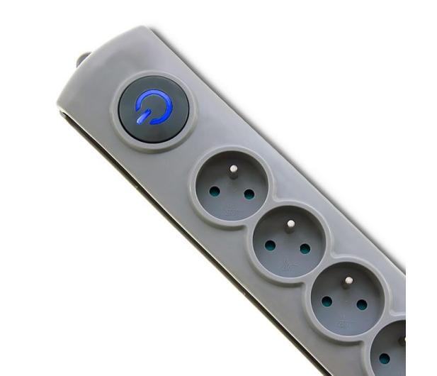 Qoltec Quick Switch - 6 gniazd, 1,8m - 462007 - zdjęcie 2