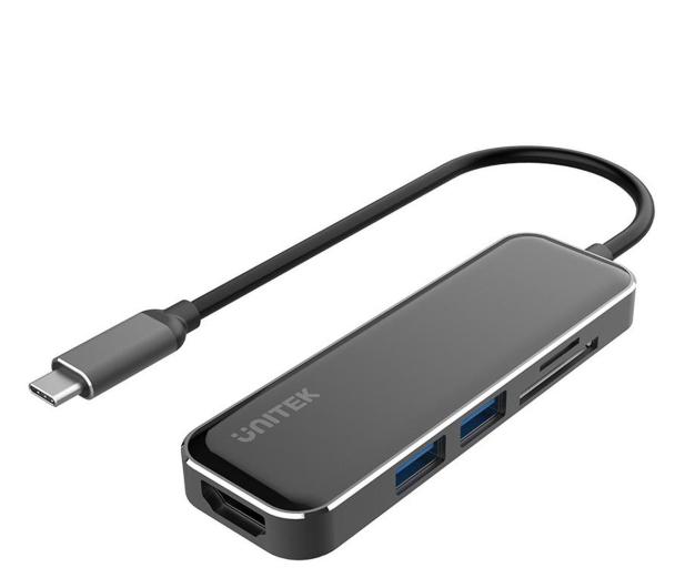 Unitek HUB USB-C - 2x USB 3.1, HDMI, czytnik kart SD - 579292 - zdjęcie