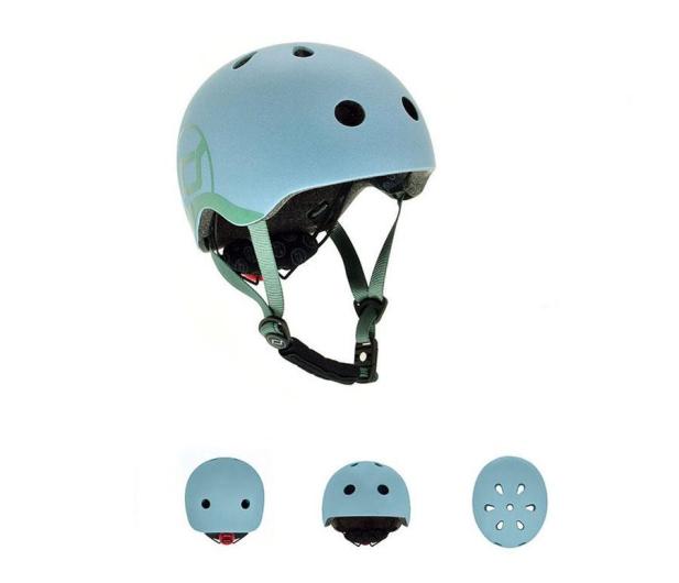 Scoot & Ride Kask Ochronny XXS-S dla dzieci 1-5 lat Steel - 580280 - zdjęcie 2
