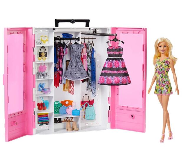 Barbie Szafa na ubranka + Lalka fashionistas - 488466 - zdjęcie
