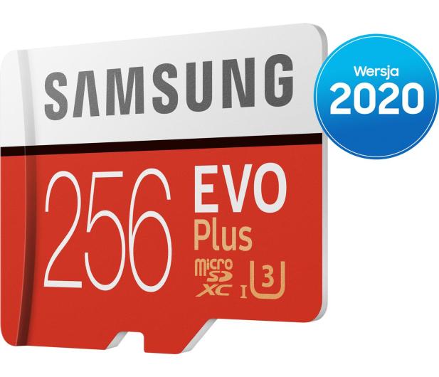Samsung 256GB microSDXC Evo Plus zapis90MB/s odczyt100MB/s - 577328 - zdjęcie 3