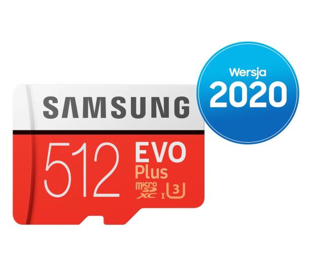 Samsung 512GB microSDXC Evo Plus zapis90MB/s odczyt100MB/s - 577329 - zdjęcie