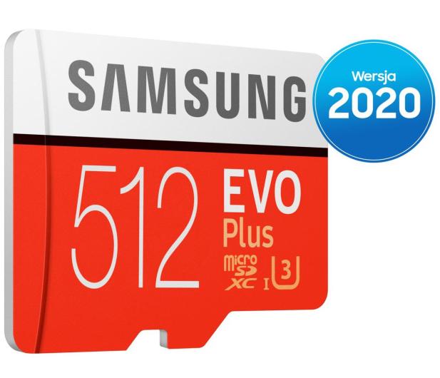 Samsung 512GB microSDXC Evo Plus zapis90MB/s odczyt100MB/s - 577329 - zdjęcie 2
