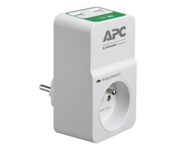 APC Essential SurgeArrest - 1 gniazdo, 2x USB - 583812 - zdjęcie