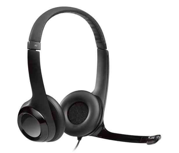 Logitech H390 Headset czarne z mikrofonem - 71783 - zdjęcie