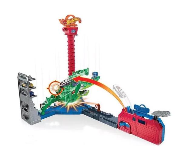 Hot Wheels City Atak smoka Zestaw z napędem, dźwiękami i poja - 1008225 - zdjęcie 2