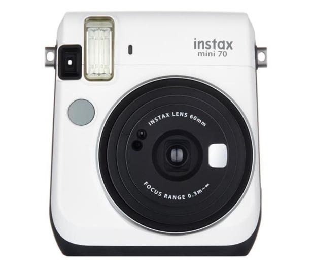 Fujifilm Instax Mini 70 biały+ wkłady 2x10+ etui niebieskie - 619881 - zdjęcie
