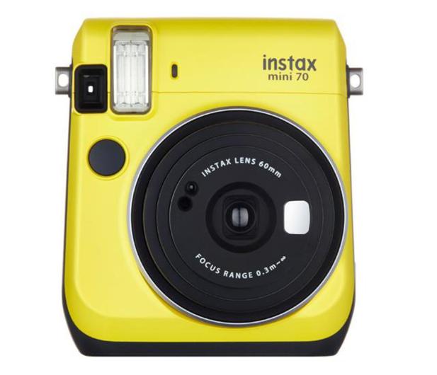 Fujifilm Instax Mini 70 żółty + wkłady 2x10+ etui - 619878 - zdjęcie