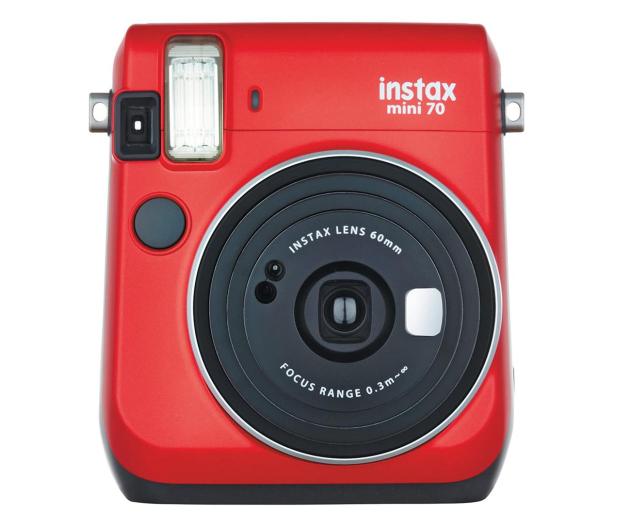 Fujifilm Instax Mini 70 czerwony + wkłady 2x10+ etui - 619875 - zdjęcie
