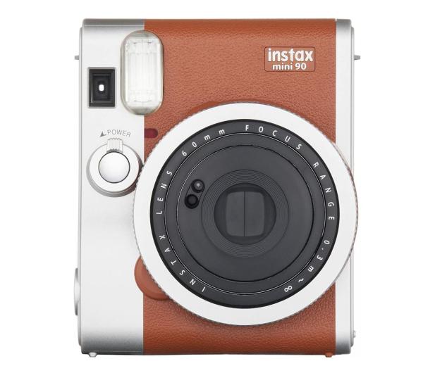 Fujifilm Instax Mini 90 brązowy + Wkłady + Etui  - 619871 - zdjęcie