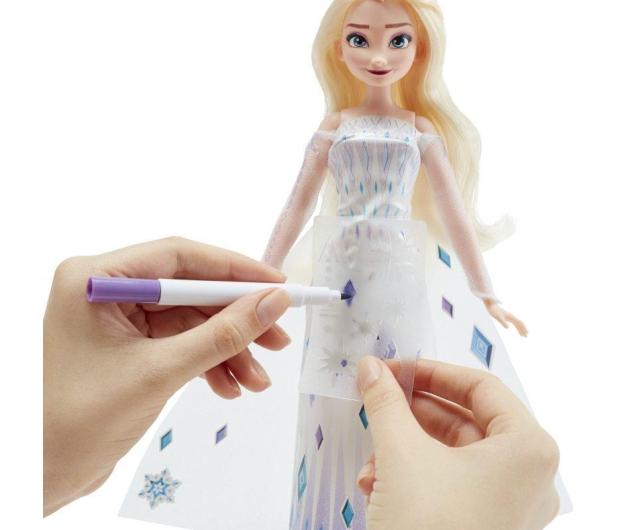 Hasbro Frozen 2 Lalka Elsa z suknią do malowania - 1009297 - zdjęcie 4