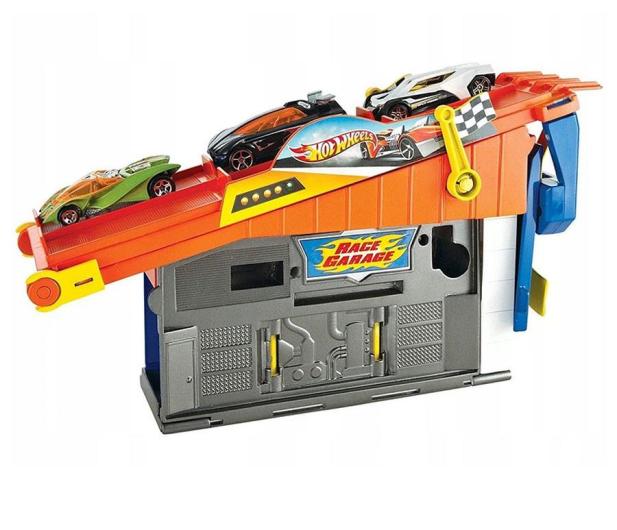 Hot Wheels Wyścigowy warsztat z torem - 1009380 - zdjęcie 3