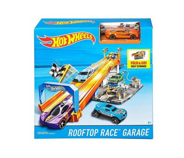 Hot Wheels Wyścigowy warsztat z torem - 1009380 - zdjęcie 4