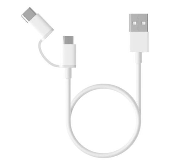 Xiaomi Mi 2-in-1 USB Cable (Micro USB to Type C) 30cm - 590964 - zdjęcie