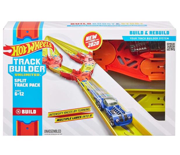 Hot Wheels Track Builder Zestaw do rozbudowy Split track pack - 1012409 - zdjęcie