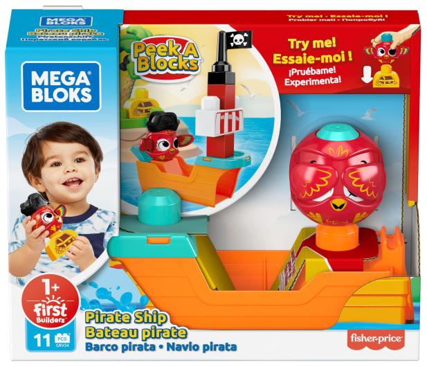 """Mega Bloks Klocki """"A kuku"""" Statek piracki Zestaw - 1013908 - zdjęcie 6"""