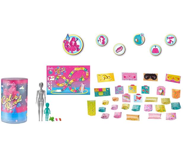 Barbie Color Reveal Piżamowe Party +50 akcesoriów - 1014084 - zdjęcie
