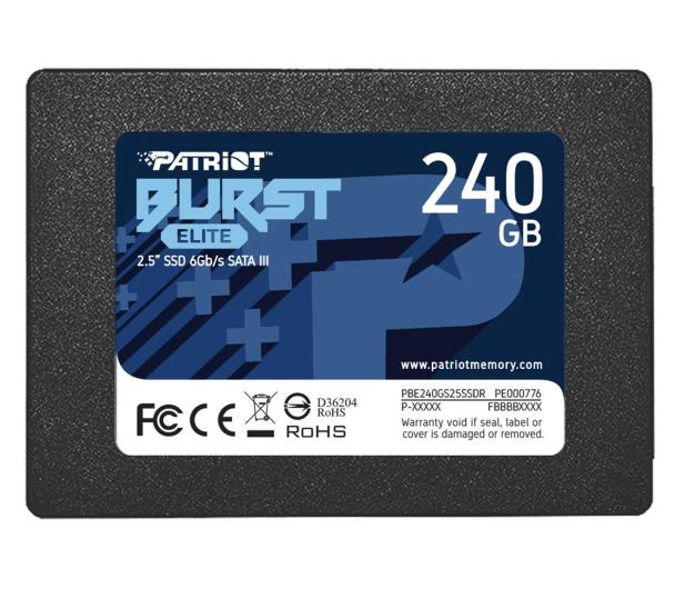 "Patriot 240GB 2,5"" SATA SSD BURST ELITE - 622636 - zdjęcie"