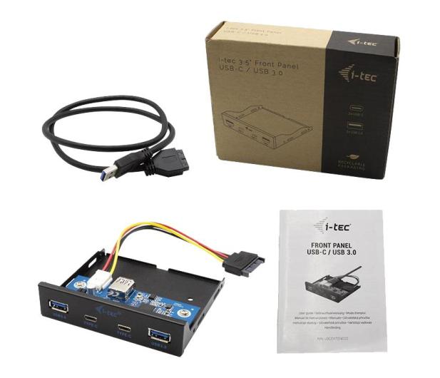 i-tec Panel przedni wewnętrzny USB USB-C / USB 3.0 - 604121 - zdjęcie 3