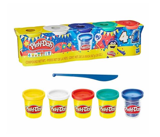 Play-Doh Celebration pack 65 urodziny 4+1 - 1015269 - zdjęcie