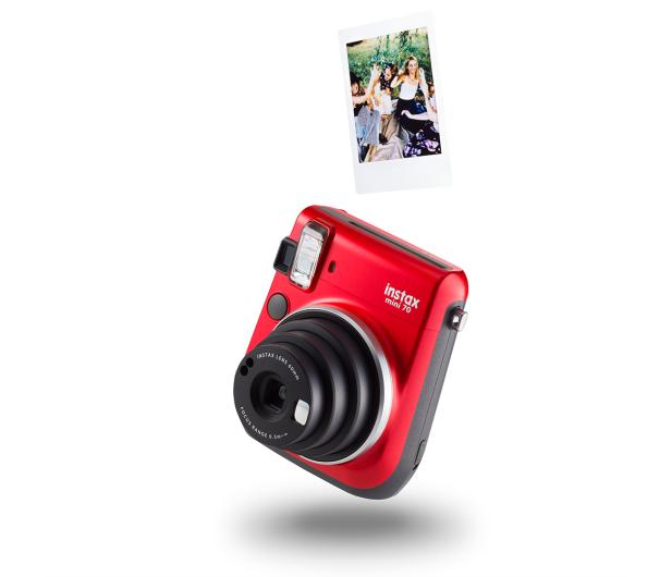 Fujifilm Instax Mini 70 czerwony + wkłady 2x10+ etui - 619875 - zdjęcie 5