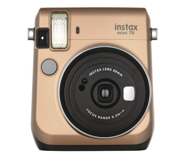 Fujifilm Instax Mini 70 złoty+ wkłady 2x10+ etui białe - 629575 - zdjęcie