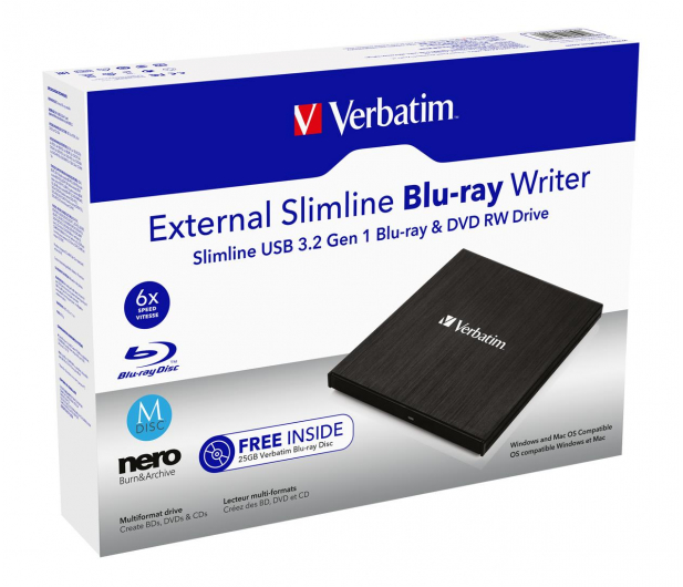 Verbatim Slimline X6 USB 3.0 + BLU-RAY - 631473 - zdjęcie 4