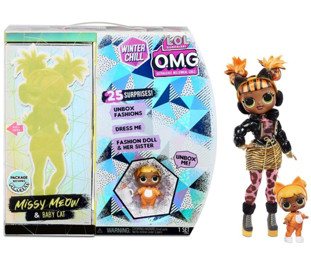 MGA Entertainment LOL SURPRISE OMG Winter Chill Lalka MISSY MEOW - 1012395 - zdjęcie
