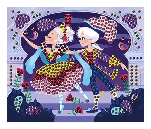 Janod Zestaw kreatywny Urokliwe cekiny  Baletnice 7+ - 1017233 - zdjęcie 4