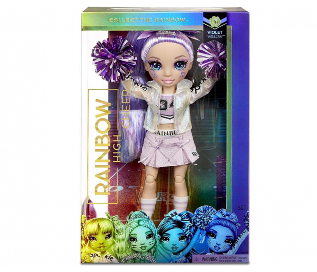 Rainbow High Cheer Doll - Violet Willow (Purple) - 1014497 - zdjęcie 4