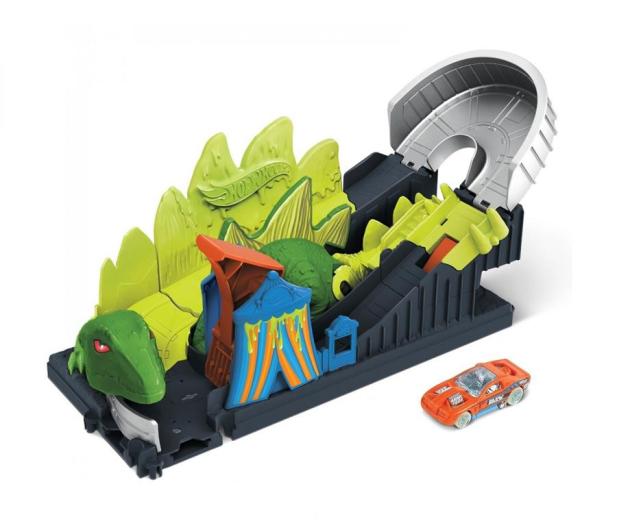 Hot Wheels Dino Coaster Zestaw z pojazdem szturmowym - 1018072 - zdjęcie