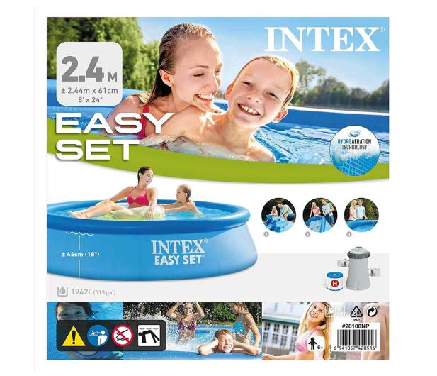 INTEX INTEX Basen EASY SET 244 x 61 cm + pompa - 1016958 - zdjęcie 4