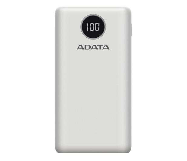 ADATA Power Bank P20000QCD 20000mAh biały - 645543 - zdjęcie
