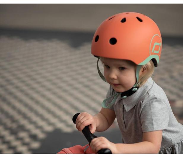 Scoot & Ride Kask Ochronny XXS-S dla dzieci 1-5 lat Peach - 580275 - zdjęcie 3