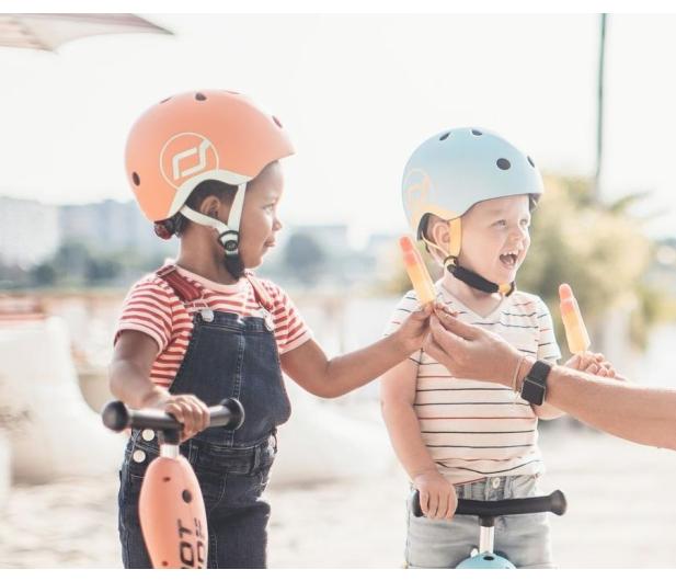 Scoot & Ride Kask Ochronny XXS-S dla dzieci 1-5 lat Peach - 580275 - zdjęcie 4