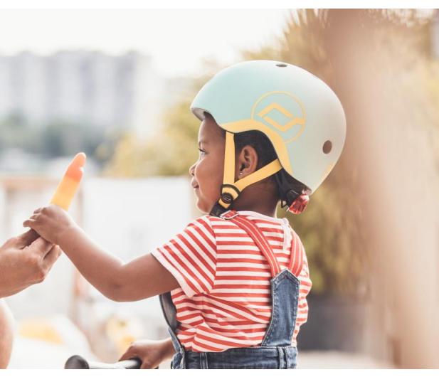 Scoot & Ride Kask Ochronny XXS-S dla dzieci 1-5 lat Kiwi - 580273 - zdjęcie 3