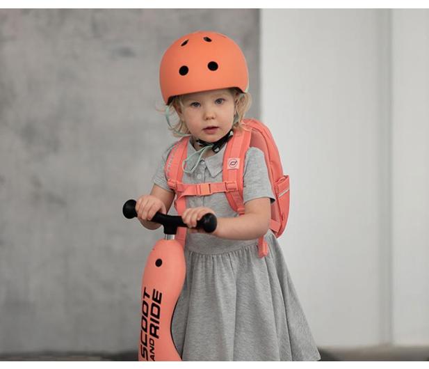 Scoot & Ride Kask Ochronny XXS-S dla dzieci 1-5 lat Peach - 580275 - zdjęcie 6
