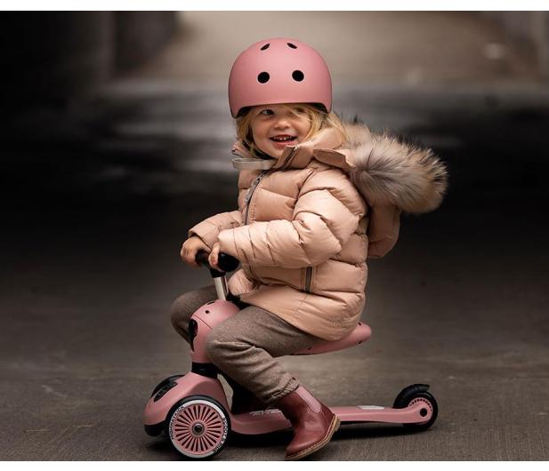 Scoot & Ride Kask Ochronny XXS-S dla dzieci 1-5lat Rose - 580279 - zdjęcie 4