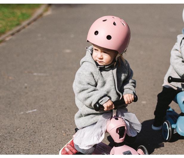Scoot & Ride Kask Ochronny XXS-S dla dzieci 1-5lat Rose - 580279 - zdjęcie 5