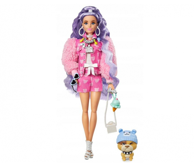 Barbie Fashionistas Extra Moda Lalka z akcesoriami - 1019250 - zdjęcie