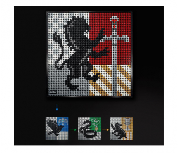 LEGO Art 31201 Harry Potter Herby Hogwartu - 1012708 - zdjęcie 6