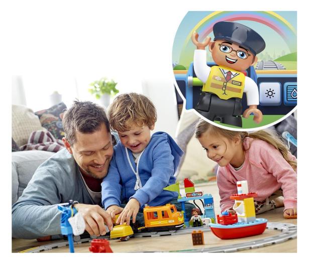 LEGO DUPLO 10875 Pociąg towarowy - 432468 - zdjęcie 4