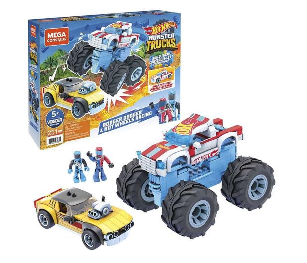 Mega Bloks Mega Construx Hot Wheels Rodger Dodger + Monster Trucks - 1023384 - zdjęcie