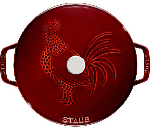 Staub Żeliwny okrągły kogut 3.6 l grenadynowy - 1023994 - zdjęcie 2