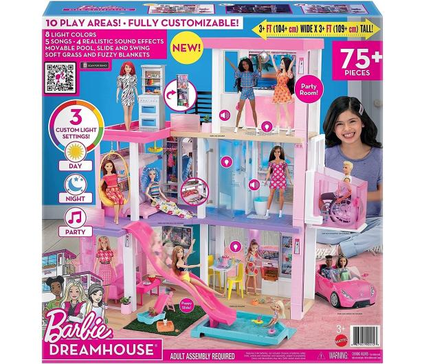 Barbie Dreamhouse Deluxe domek dla lalek - 1023251 - zdjęcie 9