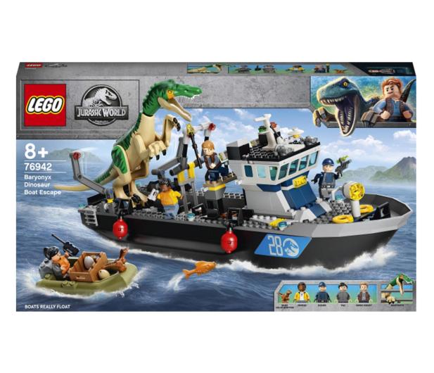 LEGO Jurassic World 76942 Barionyks i ucieczka łodzią - 1024898 - zdjęcie