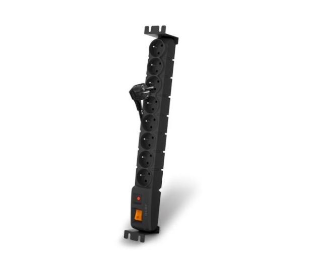 """HSK DATA Acar S8 FA RACK 19"""" - 8 gniazd, 3m, czarna - 53496 - zdjęcie"""