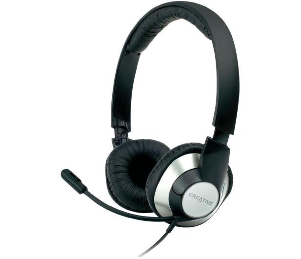 Creative HS-720 czarno-srebrne z mikrofonem - 64455 - zdjęcie