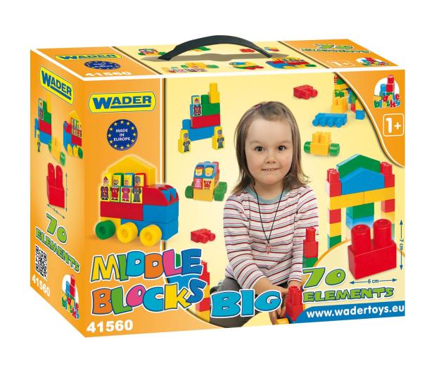 """Wader Klocki Middle Blocks - Zestaw """"Big"""" - 175589 - zdjęcie"""